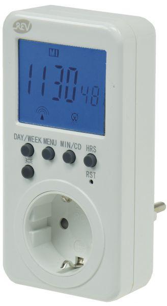 Zeitschaltuhr digital mit Funk-Uhrzeit