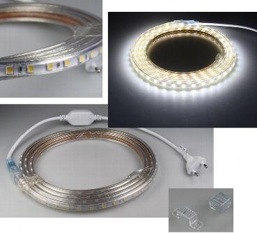 led streifen 230v kaltwei 6000k dimmbar 20m 230v led streifen led feldmann. Black Bedroom Furniture Sets. Home Design Ideas