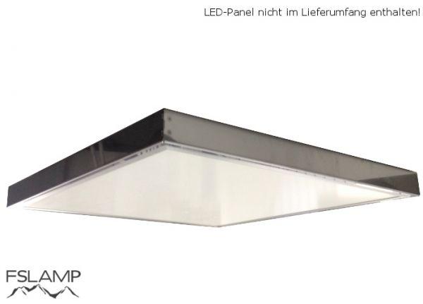 Aufputz Edelstahl Rahmen für 62x62cm LED Panels | Panel